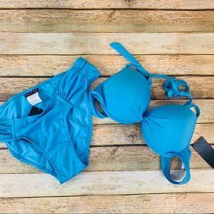 INGEAR Blue Resort Wear Push Up Bikini set Medium